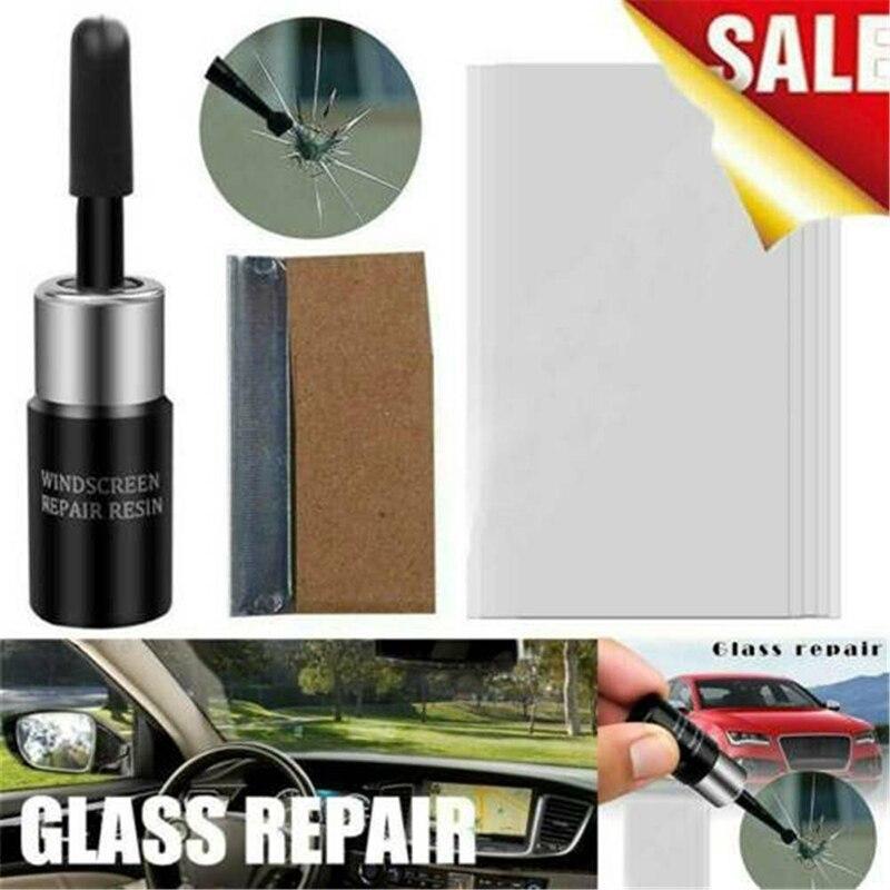 Новый обновленный набор инструментов для ремонта автомобильных стекол, жидкости для ремонта автомобильных стекол и трещин