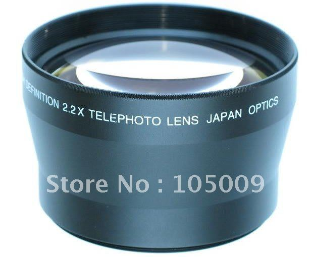 72mm telefoto 2.2x lente para sony HDR-FX1 DSC-H9 DSC-H7