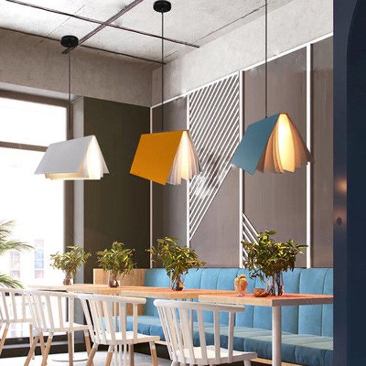 Nordic Modern Pendant Lamp LED Hanging Fixture Living Children's Bedroom Home Indoor Reading Lighting Book Bar Decoration Light enlarge