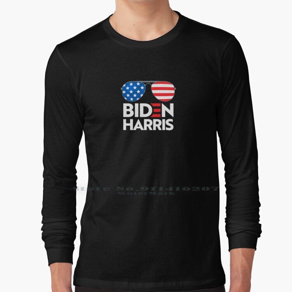 Biden Harris 2020 President - Usa Elections 2020 - Democrat Sunglasses Black Background T Shirt 100% Pure Cotton Joe Joe Biden