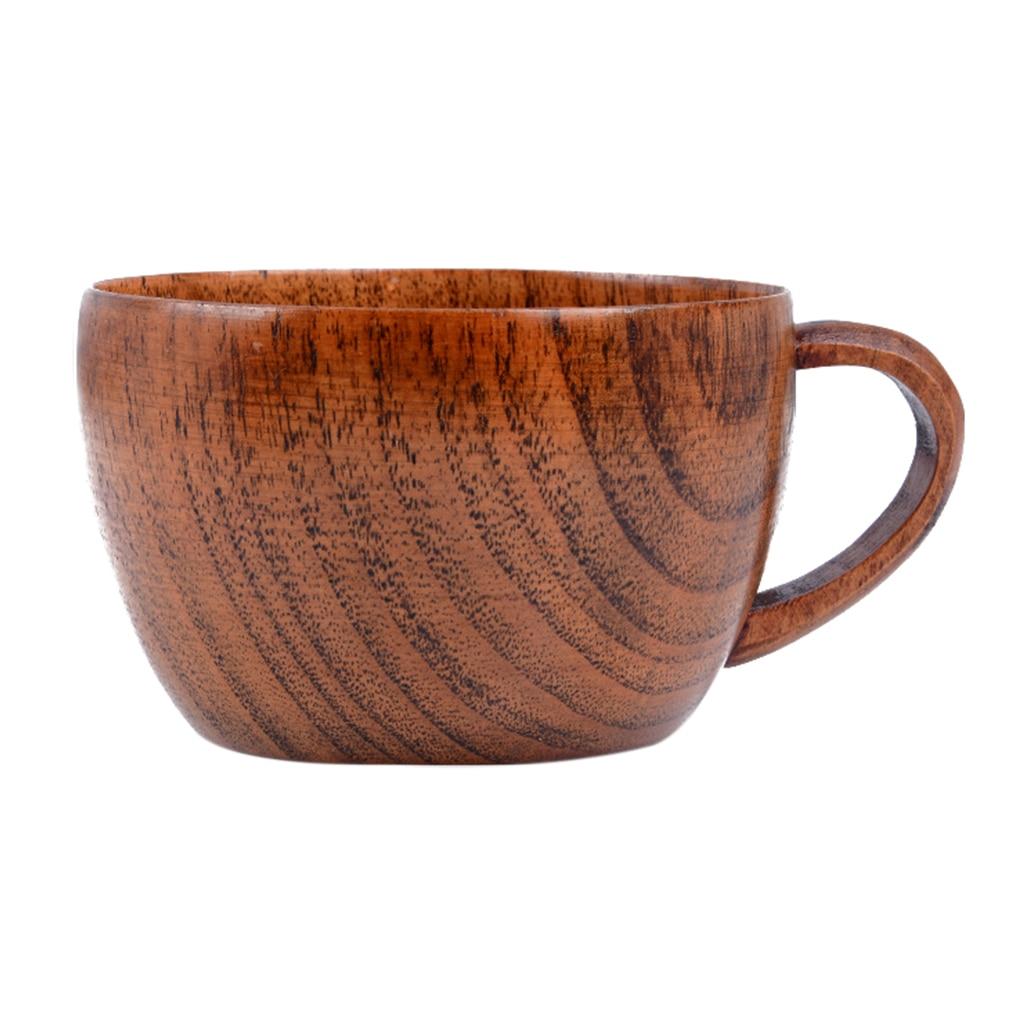 Hot 260ml/8,8 Oz azufaifo Natural Bar tazas de madera tazas con asa café té leche viaje vino cerveza tazas para el hogar Bar