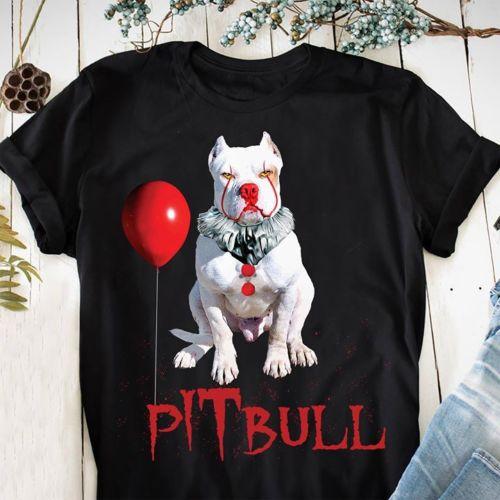 Clown Pitbull IT Halloween T Shirt BlackCotton Men  Cartoon t shirt men Unisex New Fashion tshirt free shipping funny