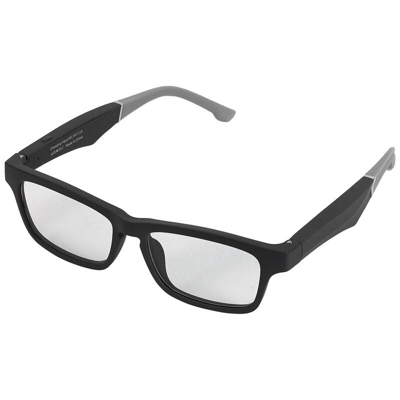 Smart Glasses Wireless Bluetooth Hands-Free Calling Music Audio Open Ear Anti-Blue Light Lenses Inte