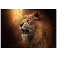 Toile decorative personnalisee en tissu HD colore avec animaux  Lion  affiches et imprimes  decoration pour la maison  20x30cm 27x40cm 30x45cm