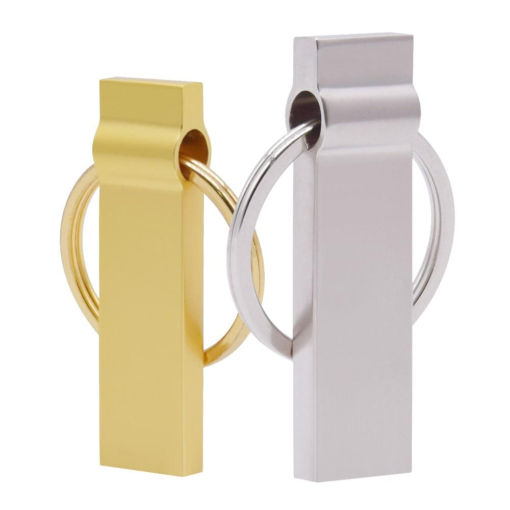 Real Capacity Smart USB flash Drive Portable Metal Pendrive 64GB 8GB 4GB 512MB 32GB Memory Stick Storage Disk Custom logo Gifts