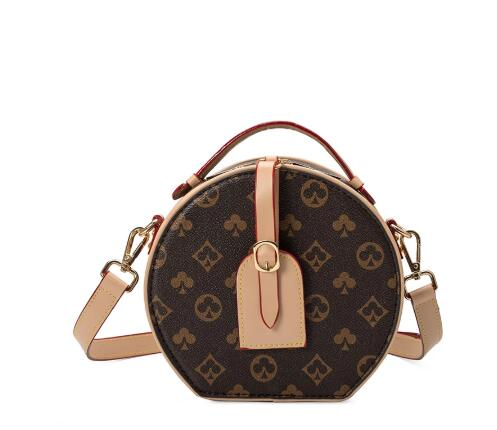 Small Vintage Printed Round Bags for Women 2021 Classic Women Handbags Female Shoulder Bags Designer