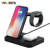 qi 15w 3 in 1 wireless chargers for iphone 12 for samsung buds fast charging station for apple watch airpods 2 pro charger dock