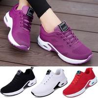 Женские дышащие кроссовки для бега, уличная легкая Спортивная повседневная прогулочная Вулканизированная обувь, удобная теннисная женска...