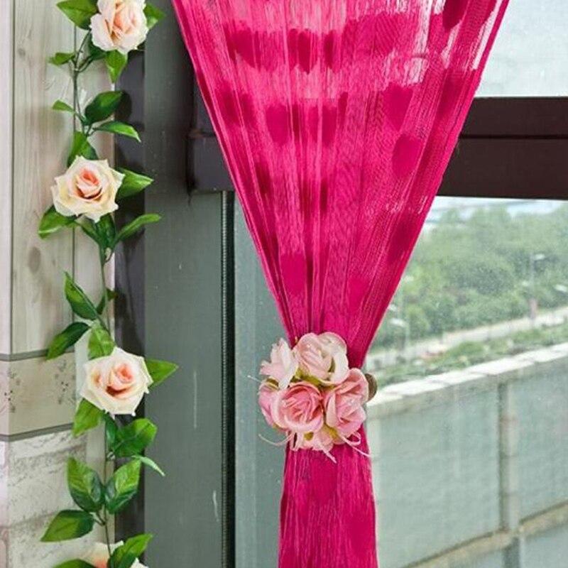 2019 linha do coração borla cordas cortinas pátio net franja porta cortinas para sala de estar cortina decoração casa