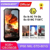 conquest s16 atex explosion proof android phone rugged ip68 waterproof nfc smartphones ip68 celular cell phone unlocked