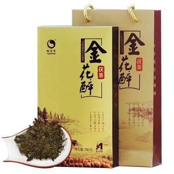 Ahn of Black Tea Golden Fuzhuan Tea yi qing yuan Golden Drunk 760g Fuzhuan Brick Tea