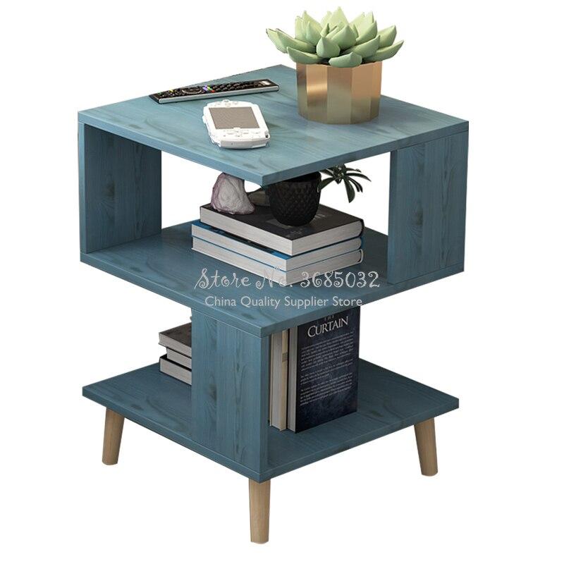 Cheap Living Room Modern Coffee Table Solid Wood Leg Storage Table Floating Window Mini Talk Tea Table Bedroom Bedside Table