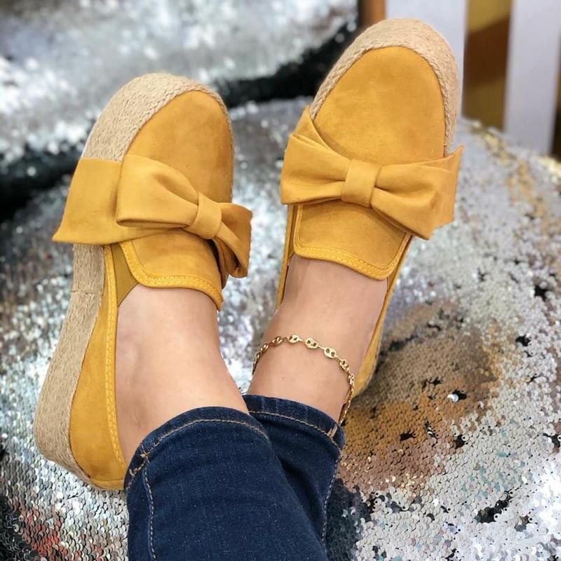 Agradable de primavera las mujeres planos de las mujeres zapatillas con plataforma buen deslizamiento en arco zapatos planos de cuero zapatos de mujer de gamuza mocasines zapatos casuales zapatos