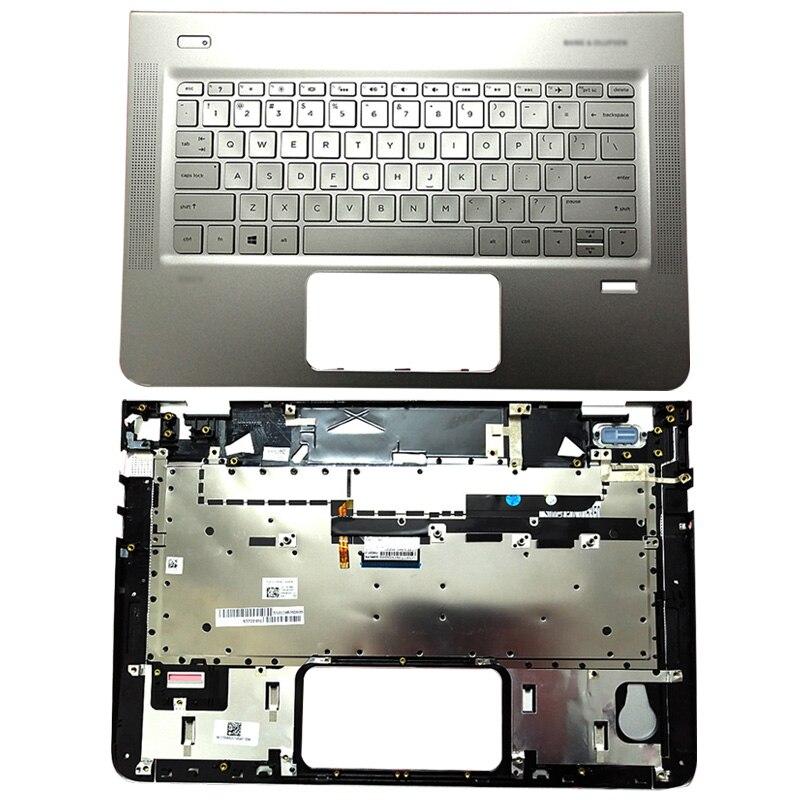 Original New For HP ENVY 13-D 13-D025TU 13-D051TU 13-D056TU 13-D040WM Laptop Palmrest Upper Case US Backlit keyboard 829305-001