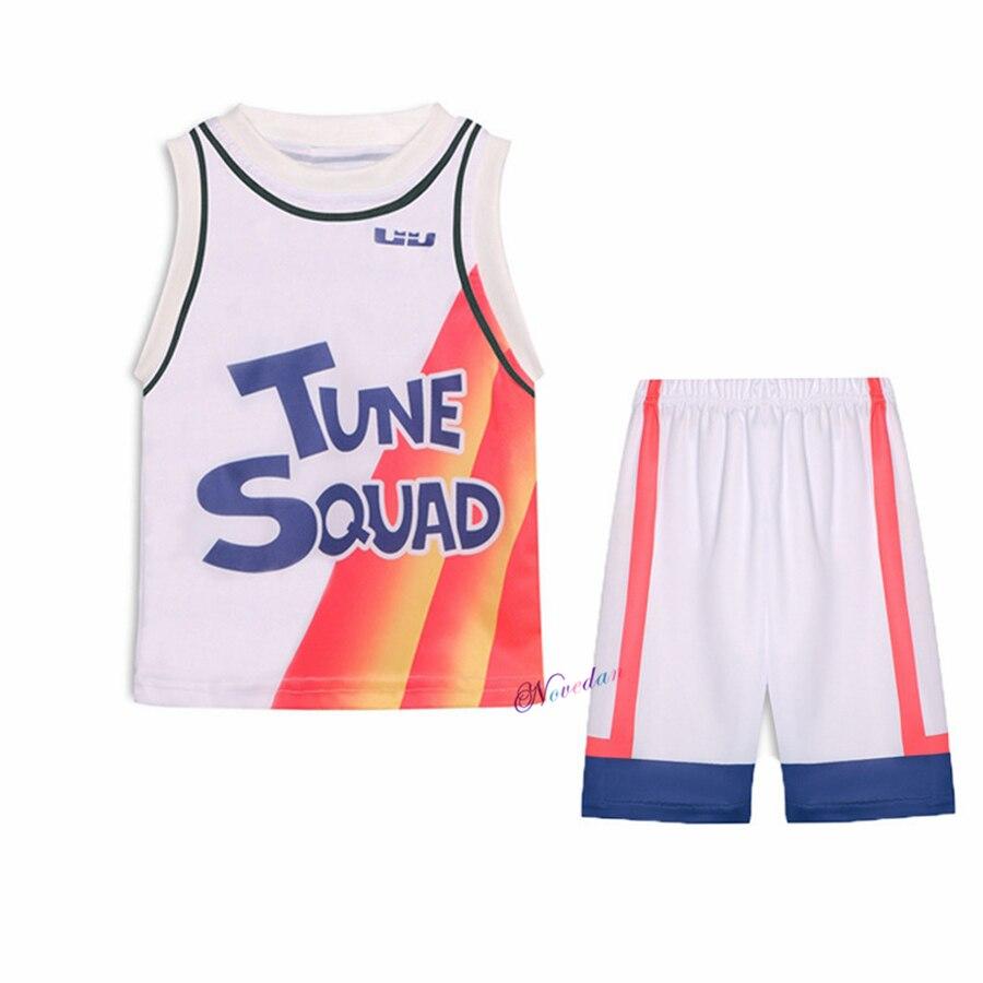 Костюм для косплея из фильма, Детская футболка, топы, шорты, спортивная форма