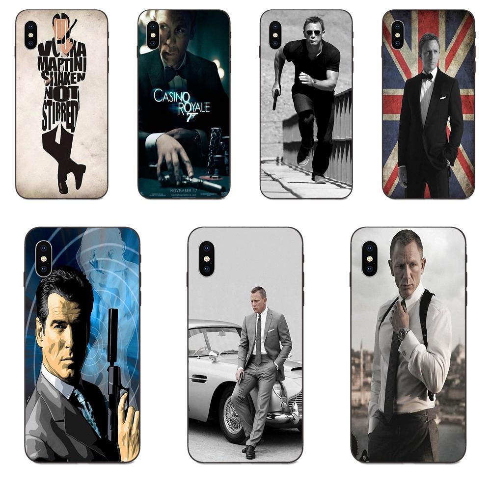 For Xiaomi Redmi Note 3 3S 4 4A 4X 5 5A 6 6A 7 7A K20 Plus Pro S2 Y2 Y3 Soft TPU Covers Capa Casino Royale 007 James Bond