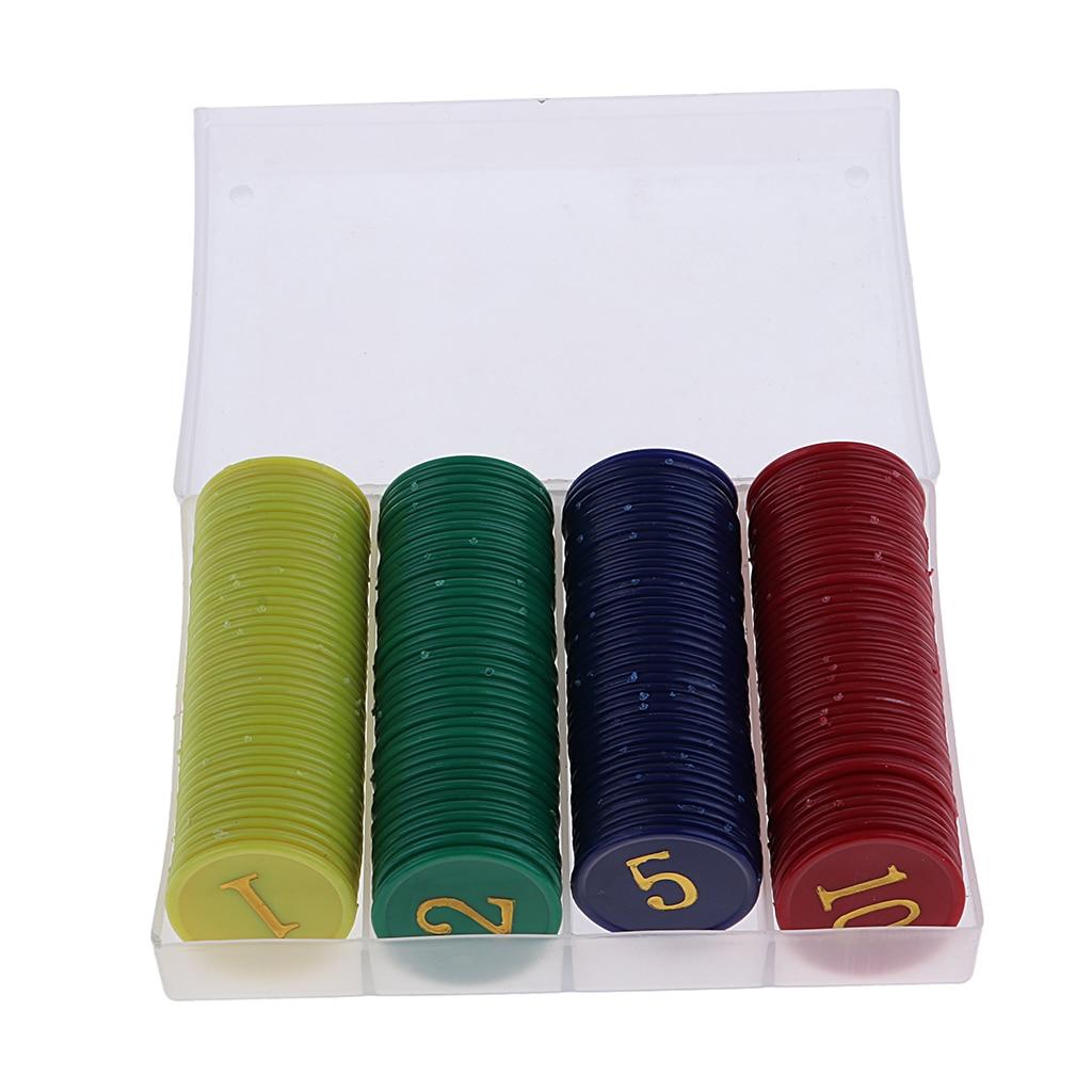160 tablero PCs juego de casino de fichas de póquer de juego recreación Mahjong fichas de dinero conjunto