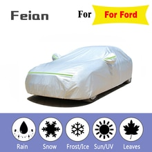 Pleine bâche de voiture s extérieur imperméable soleil acide pluie neige Protecte UV bâche de voiture en cuir coton épaissir SUV berline hayon pour Ford