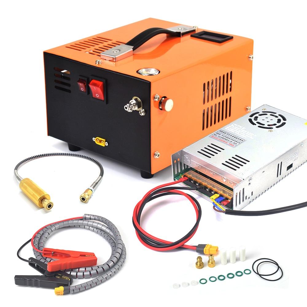 مضخة هواء صغيرة PCP ، 12 فولت ، 5000 رطل لكل بوصة مربعة ، 400 بار ، 40 ميجا باسكال ، مع محول 220 فولت ، ضاغط هواء عالي الضغط ، لصيد السيارة