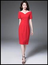 Robe professionnelle à manches courtes à manches longues avec robe OL mince rouge vif