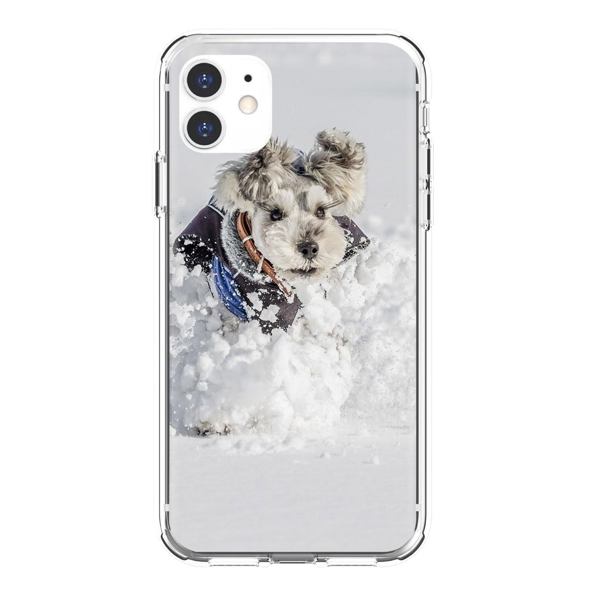 Divertido Schnauzer perro teléfono inteligente, de silicona teléfono caso para Xiaomi Mi5 Mi5S Mi6 Mi3 Mi4 Mi4i Mi4C Redmi nota 2 3 3S 5 5A 6 6A Pro