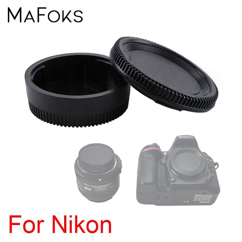 2 in 1 Rear Lens Cap+Camera Body Cover Cap for Nikon D3400 D3300 D3100 D5500 D5300 D7200 D7100 D750 D500 D40 DSLR Cameras