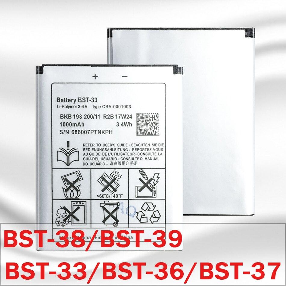 Para batería Sony Ericsson BST-33 BST 33 BST-38 BST 38 BST38 BST-37 BST 37 BST37 BST-36 BST 36 BST36 BST-39 BST 39 BST39 batería