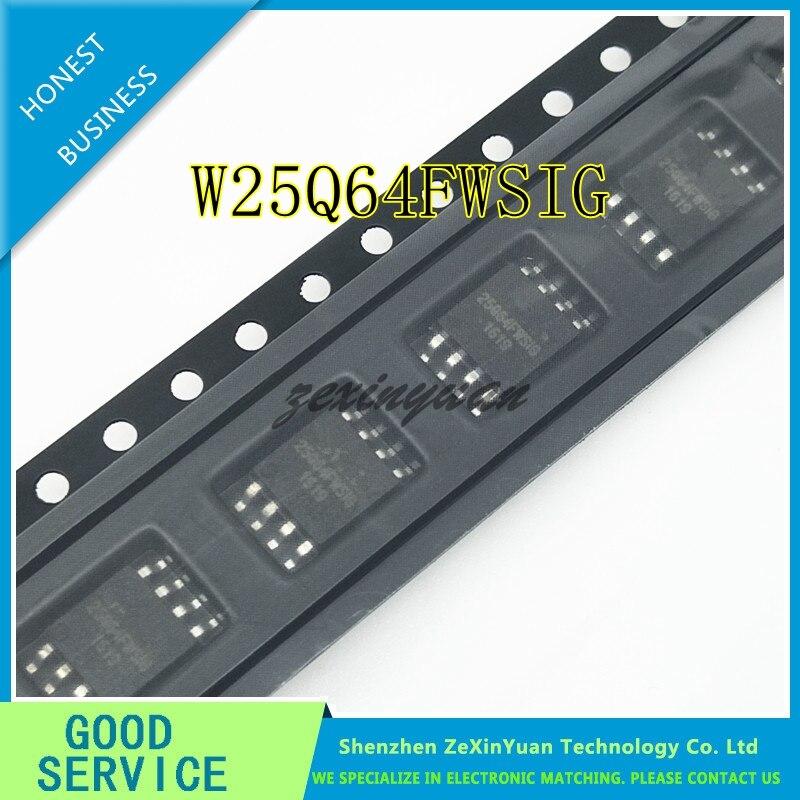 50 pçs/lote W25Q64FWSSIG W25Q64FWSIG 25Q64FWSIG 25Q64, 64M-BIT SOP8 8M X 8 EEPROM SERIAL BUS SPI FLASH