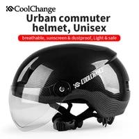 coolchange cycling helmet with goggles eps ultralight integrally molded bicycle helmet mtb road bike helmet men casco ciclismo