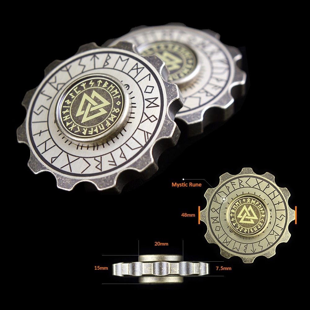 Adult Toys Spinner Anti-stress EDC with Luminous Viking Pirate High-end Chancery Hand Compass Gear Fingertip Copper Retro enlarge