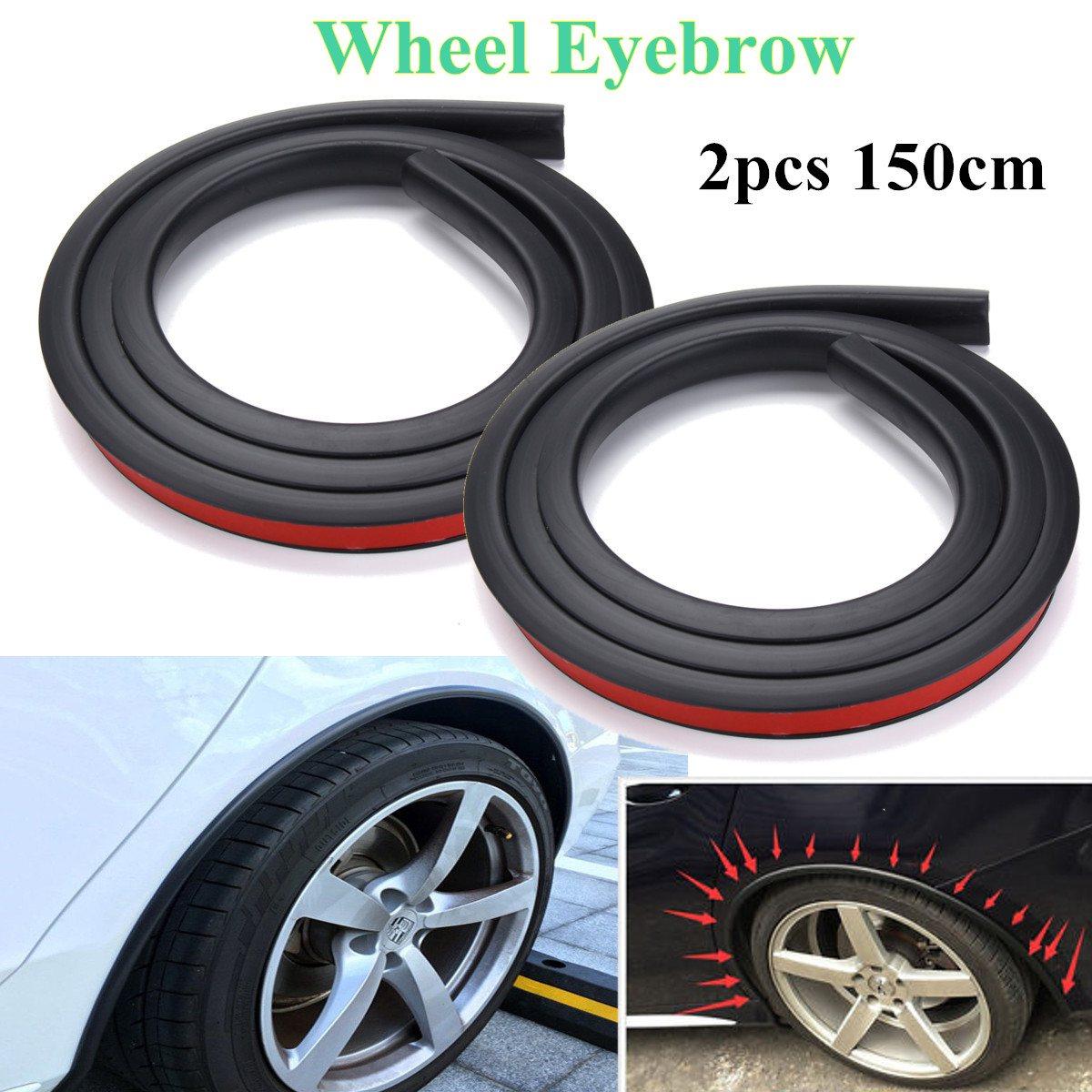 Novo quente 2 pces 150cm carro-fender alargamento extensão roda sobrancelha tira protetor arco guarnição universal