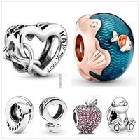 original 925 sterling silver openwork love you mum infinity heart charm beads fit pandora bracelet necklace jewelry