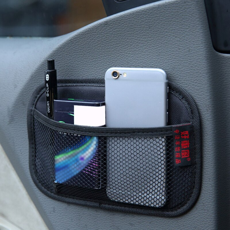 1Pcs Stowing Tidying Oxford Fabric Car Storage Net Bag Automotive Pocket Multi-use Car Seat Back Org