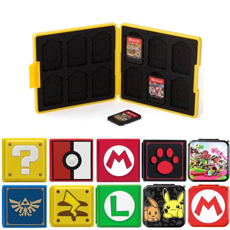 Nintend interruptor acessórios caso cartões de jogo portátil à prova de choque casca dura caixa armazenamento para nintendo switch ns jogos