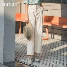 INMAN 2020 été nouvelle arrivée rétro taille moyenne lâche Micro élastique loisirs Harem pantalon