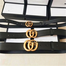 Women's Men's Luxury Designer Brand GG Belt High Quality Double Classic Brass Buckle Real Genuine Le