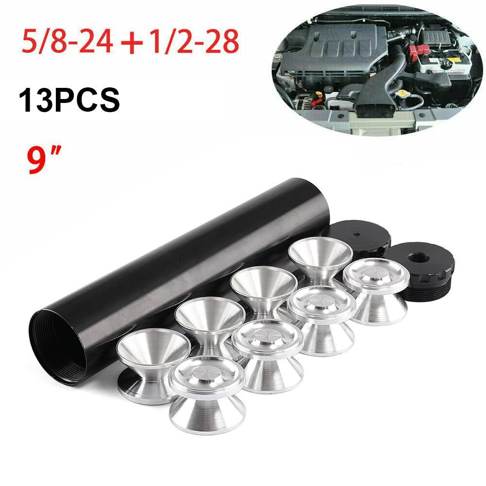 Filtro de combustible de coche de aluminio 1/2-28 o 5/8-24 trampa solvente de coche para NAPA 4003 WIX 24003 tazas de almacenaje filtros solventes de trampa de combustible de 9 pulgadas