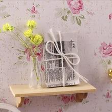 1pc Mini Accessories For Dollhouse Wooden Wall Shelf 112 Doll House Wall Shelf Miniature Bathroom Accessory