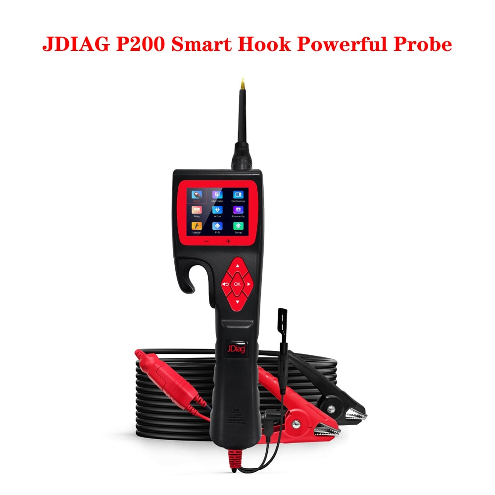 JDiag P200 Smart Hook Powerful Probe Circuit Tester Analyzer Electrical System Car Multimeter Relay/Diode/Injector Upgradeable