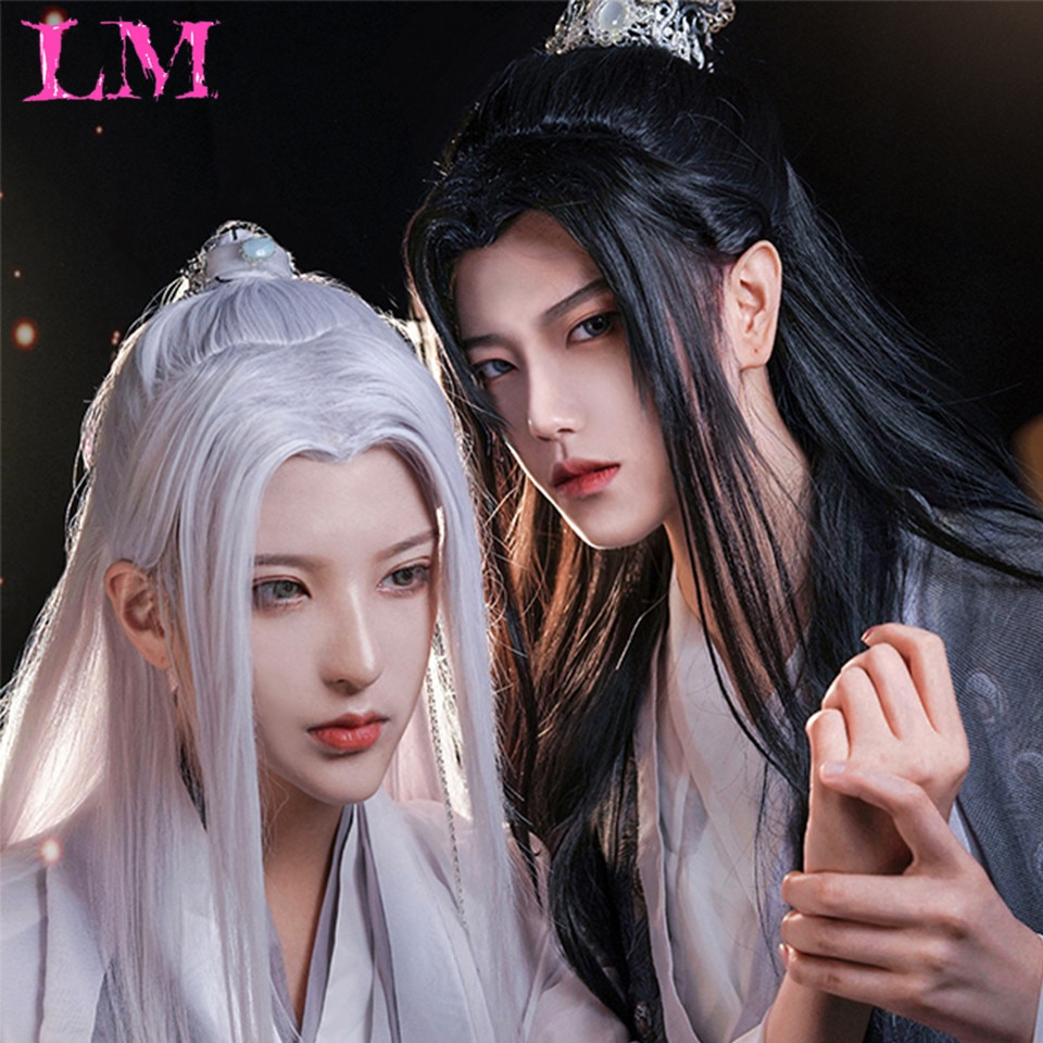 LM الصينية القديمة الرجال Wigs الباروكات للرجال هان سلالة القديمة نمط شعر مستعار زي القديمة تنوعا اليومية تستخدم شعر مستعار مخصص