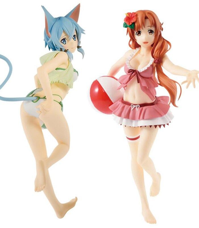 24cm exq figura espada arte online asada shino maiô ver. Anime figura sexy menina japonês adulto pvc figura de ação brinquedos modelo