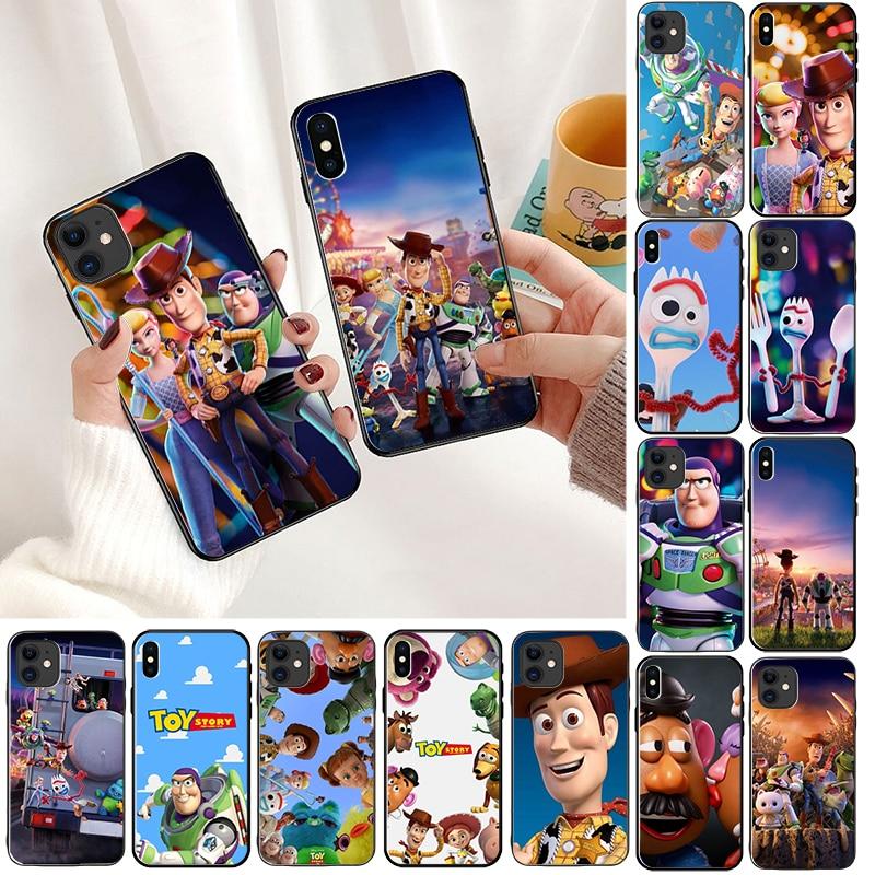 Funda para teléfono con dibujo de Historia de juguete DIY para Apple iPhone 8 7 6 6S Plus X XS MAX 5 5S SE XR 11pro max teléfonos celulares