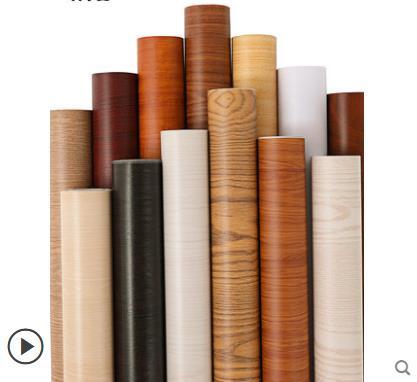 Thickened waterproof self-adhesive wallpaper old furniture wardrobe desk renovation stickers wood grain stickers