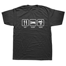 WEELSGAO Eat Sleep Judo Funny T Shirt Fashion Tops Tee T-Shirt Plus Size Men