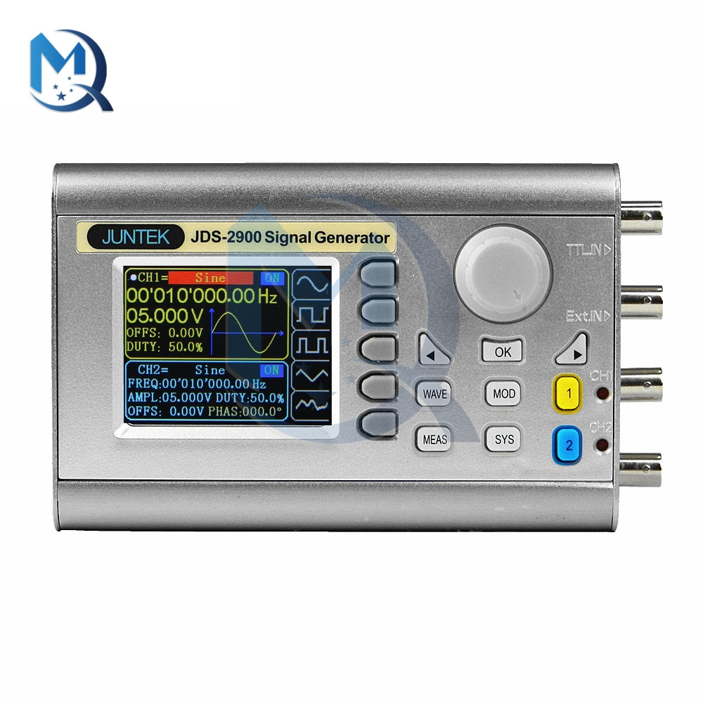 JDS2900 Function Generator DC 5V JDS2900-30MHz 2.4inch TFT Color Liquid Crystal Screen Full CNC Dual Channel Signal Generator