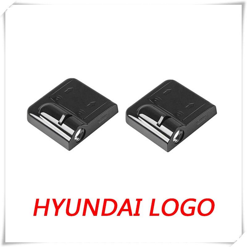2x LED puerta coche logotipo cortesía luz de baja reflexión para Hyundai acento X3 LC MC RB HC Elantra XD HD MD AD grandeza XG TG HG IG I10