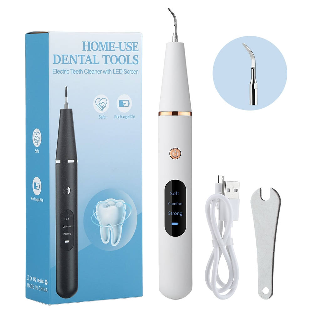 Ultrasonic Calculus Remover 3 Mode Electric Portable Dental Scaler Tooth Cleaner Smoke Stains Tartar Plaque Teeth Whitening Tool ultrasonic calculus remover electric portable dental scaler ultrasonic tooth cleaner tartar plaque teeth whitening scaling tools