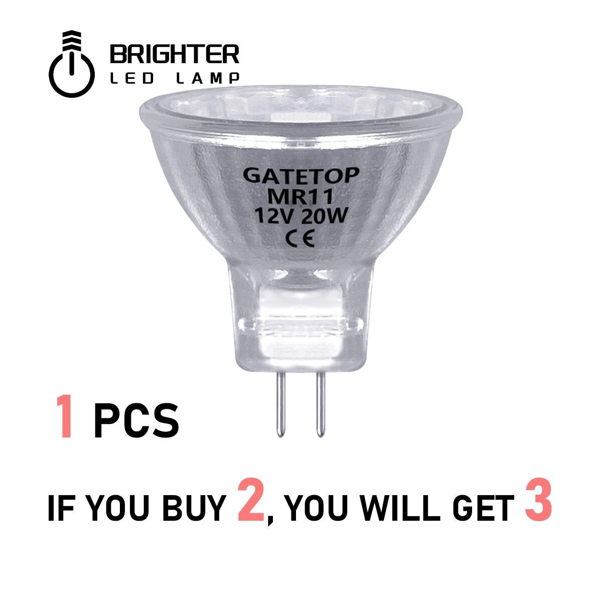 (Купи 2 ПОЛУЧИ 1 бесплатно) галогенная лампа для прожектора Mr11 20 Вт Ac/dc 12 в 1 шт. энергосберегающая лампа Gu4 горячего размера купи 2 и получи 1 бес...