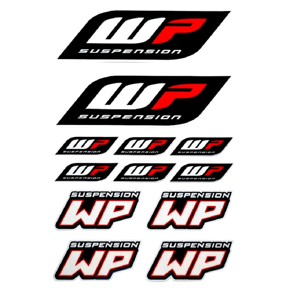 WP Motorcycle Modified Waterproof Reflective Accessory Suspension Modification Stickers