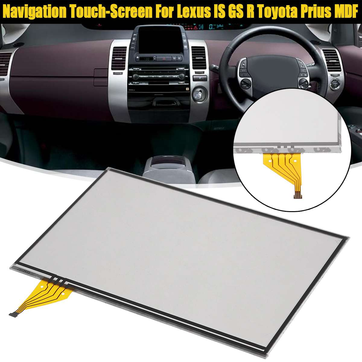 Navigation Touch-Screen Glass Digitizer Lens touch screen For Lexus for Toyota Prius MDF LTA070B512F